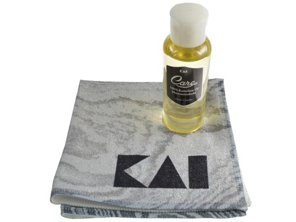 KAI Klingenpflegeset 45500610 Kamelien-Öl und Pflegetuch
