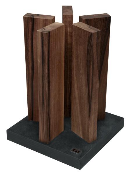 KAI STH-4 Messerblock Stonehenge Granit/Redwood