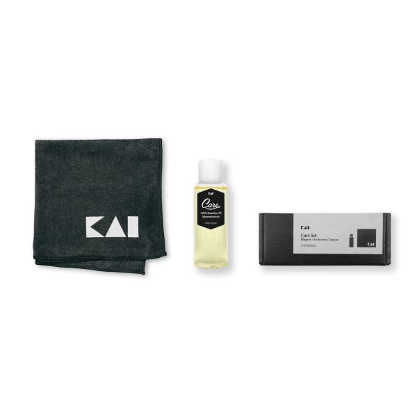KAI Klingenpflegeset: Kamelien-Öl und Pflegetuch
